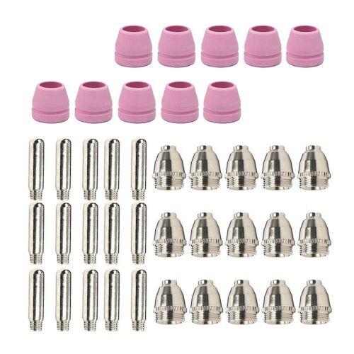 40x Plasma Cutter Torch Consumables Nozzle Electrode /&Cup For LTP5000D LTP6000