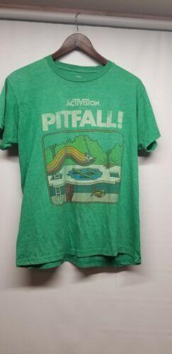 Activision Pitfall Green Video Game Shirt M