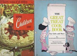 2-Vintage-Kids-039-Cookbooks-Culinary-Arts-1970-amp-The-Great-Treat-Cookbook-1975