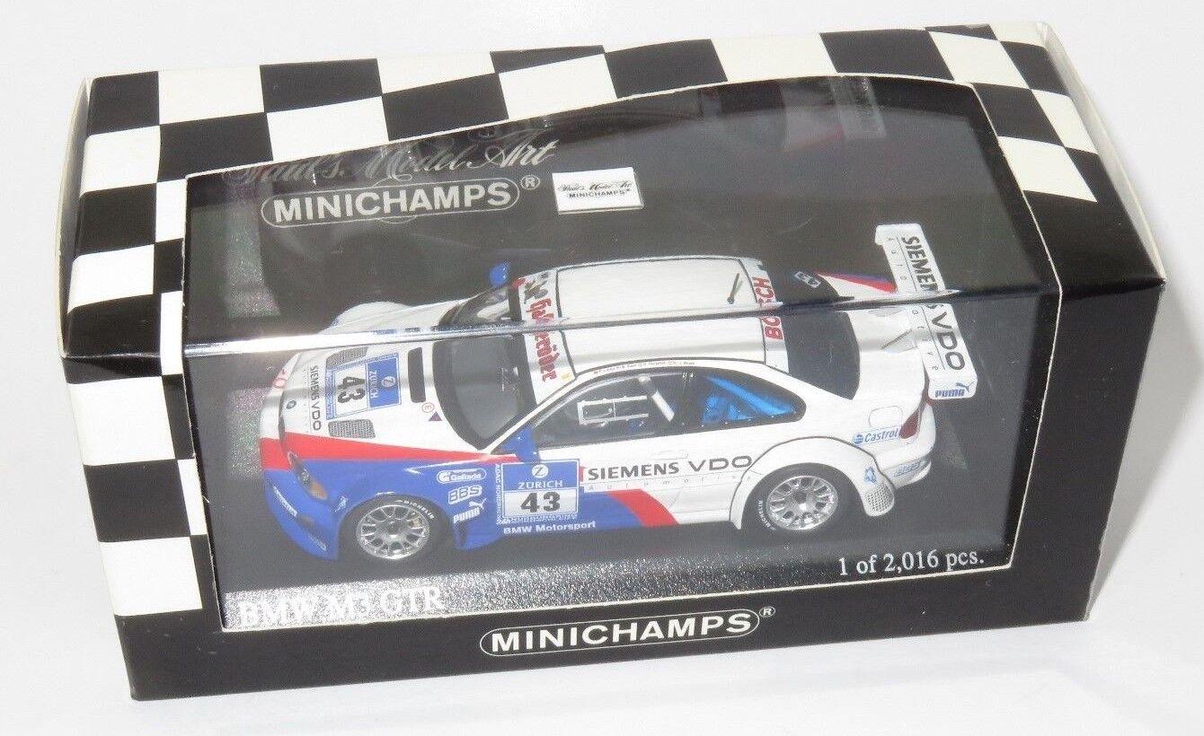 precio al por mayor 1 43 BMW M3 GTR ADAC 24 24 24 HRS 2004  43 Lamy Huisman pegadas dijo  estar en gran demanda