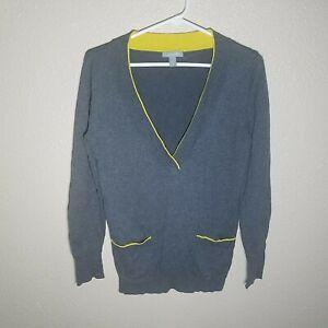 Delia-Sweater-M-Women-L-S-Stretch-Pullover-Layered-Prep-Pocket