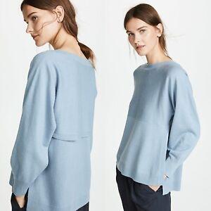 Vince-Side-Slit-Boatneck-Sweater-Glass-Blue-Size-XS-Wool-Cashmere-325