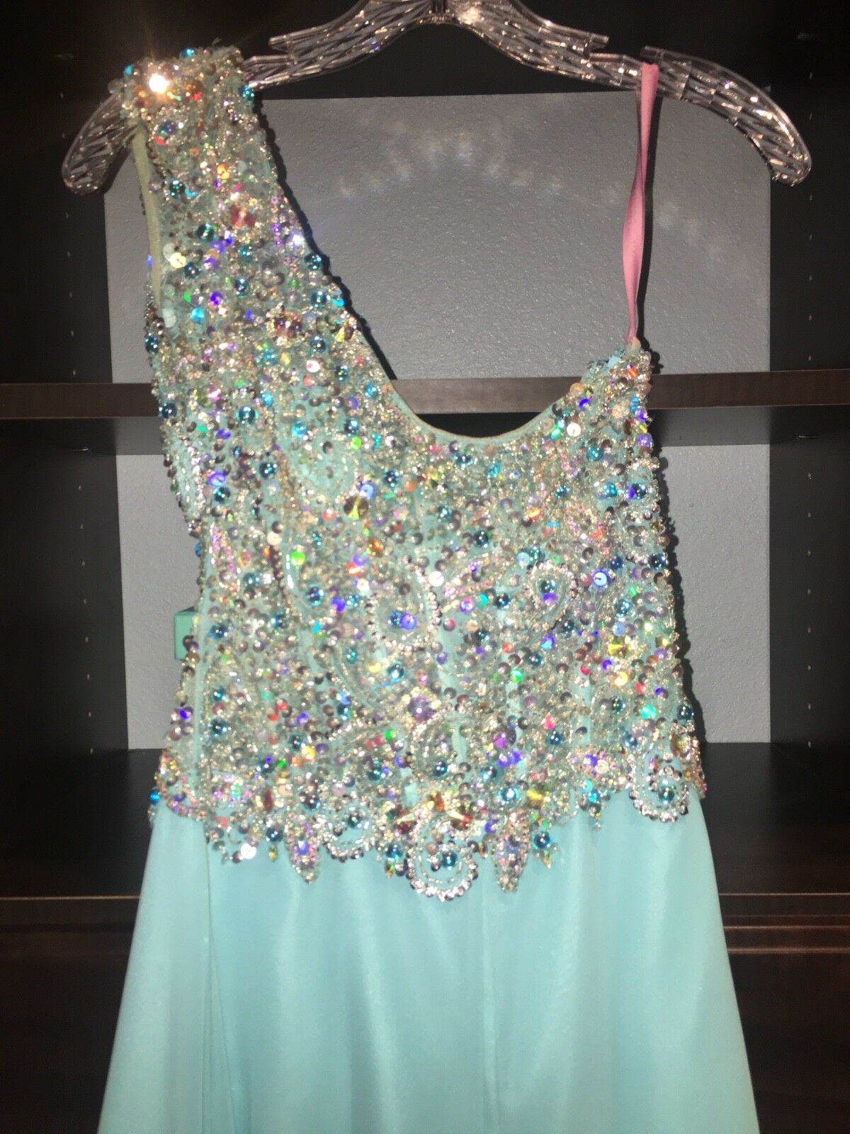 bluee One Shoulder Gown NEW NEW NEW size 4 2633d5