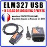 Interface de diagnostic multimarque ELM327 USB V1.5 + Logiciel en FR ELM 327 OBD