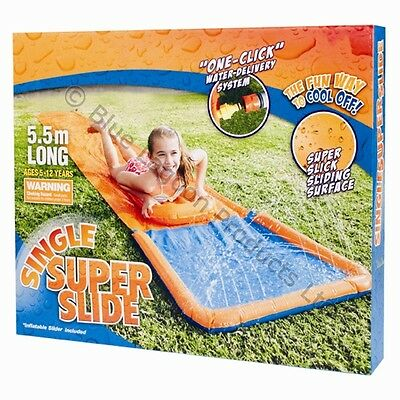 Inflatable Water Slide 5.5m Slide Aqua Mat Boodie Board Children Fun Garden Wave