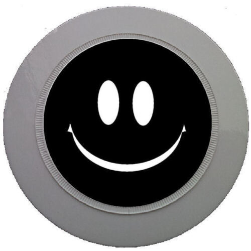 BLACK SMILEY FACE CAR TAX DISC HOLDER REUSABLE PARKING PERMIT HOLDER