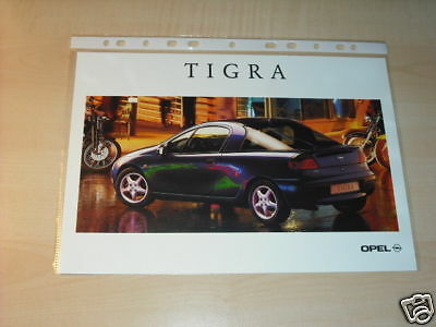 10618) Opel Tigra Frankreich Prospekt 1996
