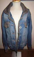Vintage Baby Phat Distressed Blue Jeans & Tweed Unique Jean Jacket Plus size 2XL