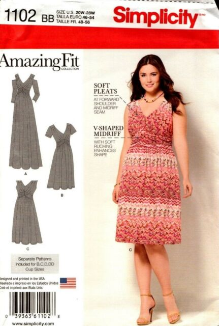 Simplicity 1102 Size Bb Misses Fit Dress In Knit Sewing Pattern Ebay