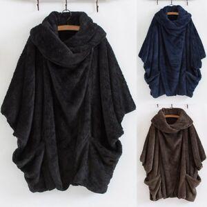 Women-Casual-Solid-Turtleneck-Big-Pockets-Cloak-Coats-Vintage-Oversize-Coats-P