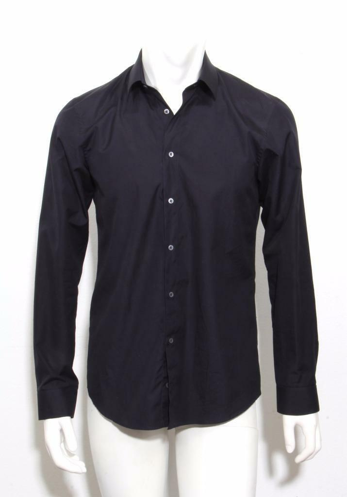 JIL SANDER  Herren Dark Navy Blau Long Sleeve Classic Button Down Shirt 40 15.75