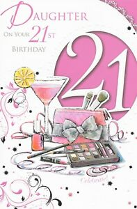 Image Is Loading 21ST DAUGHTER BIRTHDAY CARD MAKE UP XPRESS YOURSELF