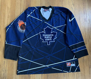 Toronto-Maple-Leafs-Vintage-90-s-Nike-Street-Hockey-Jersey-Size-L-RARE