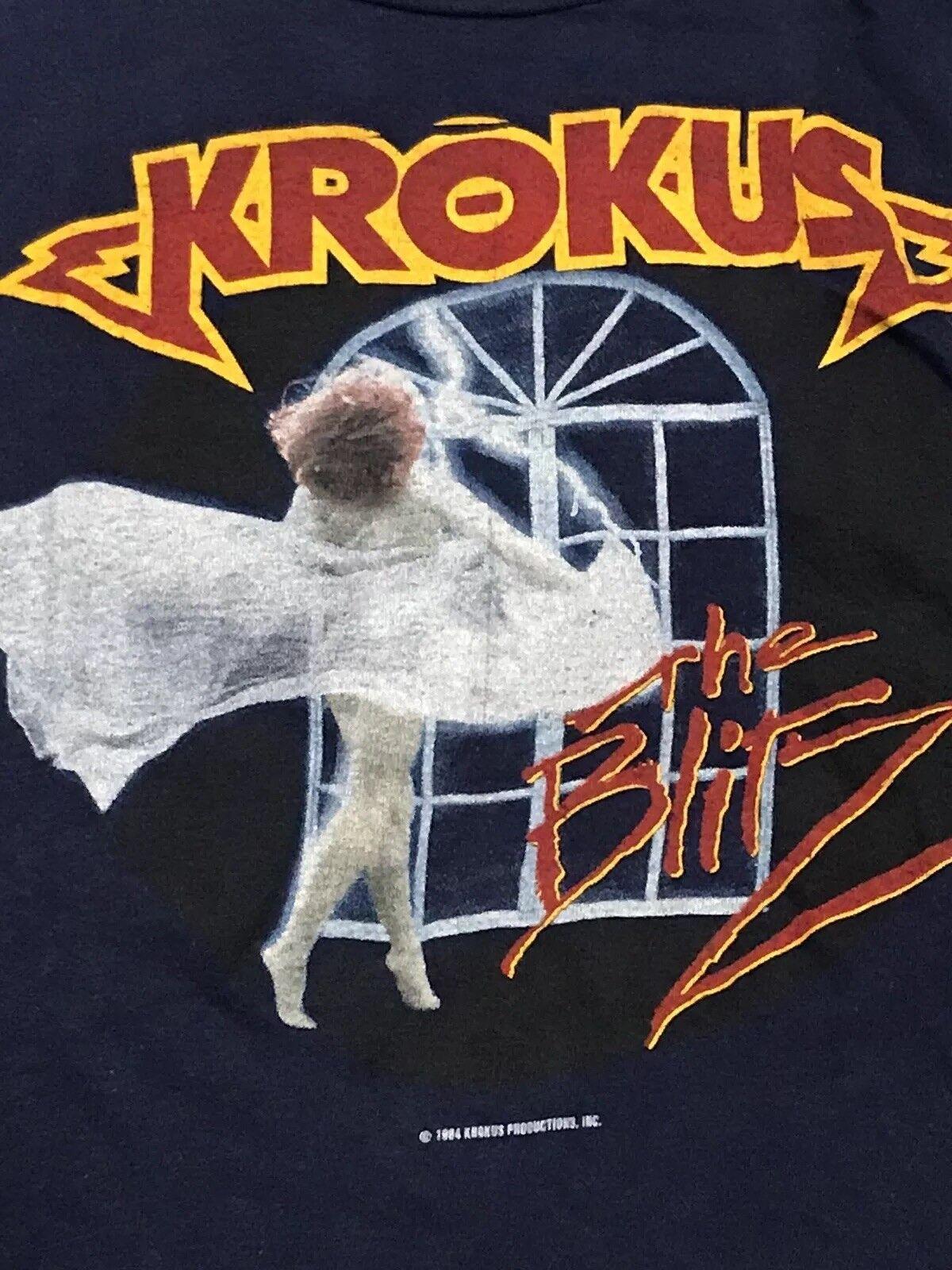 Krokus Vtg Tour Shirt LA Guns Roses ACDC Ozzy Crue Ratt Jovi Poison Leppard KISS