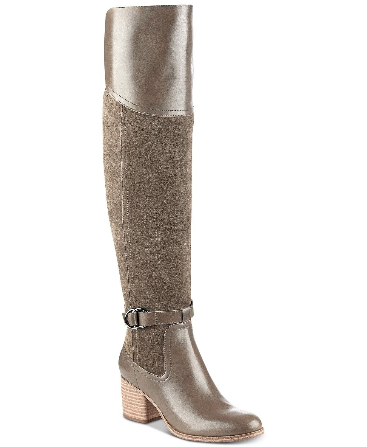 Marc Fisher Eisa Over-The-Knee Block-Heel Stivali Size 6.5 Taupe Retail  189