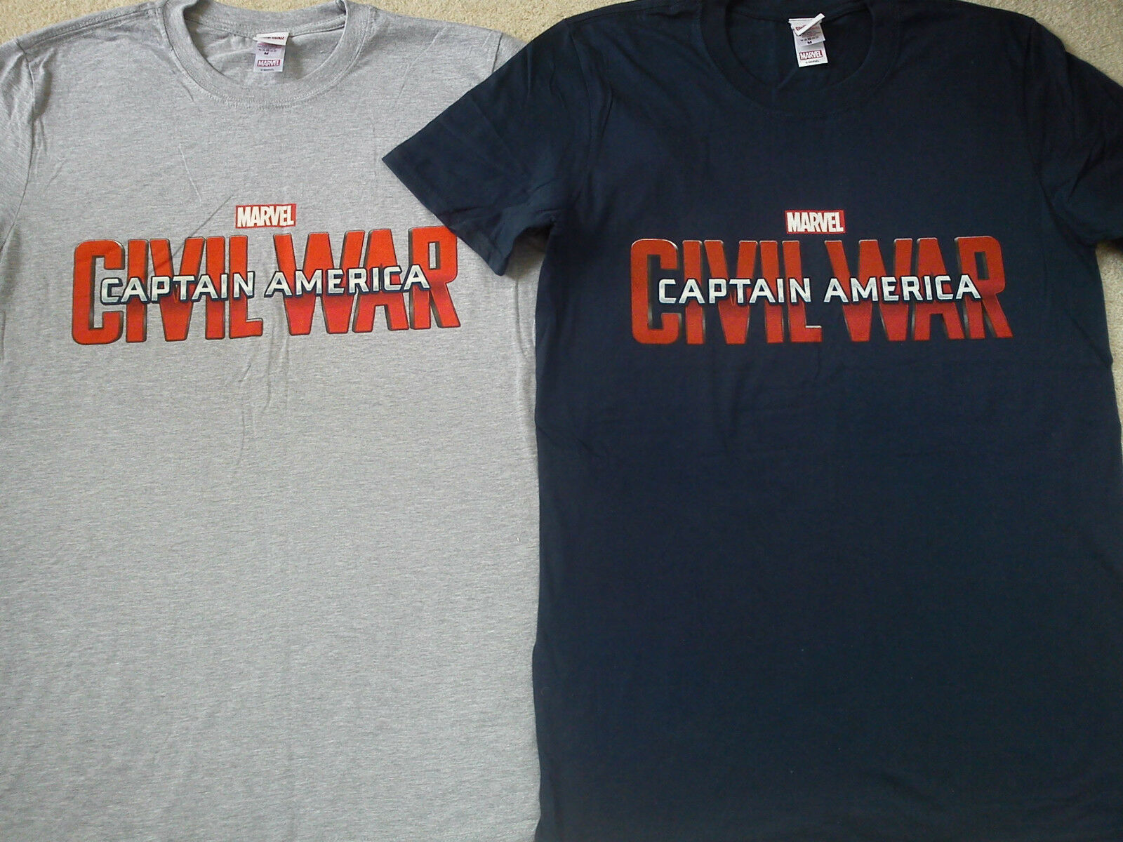 NICE Captain America NEUF 2x Bundle T-Shirt Hommes Medium Tee Taille M Medium Hommes 744c29
