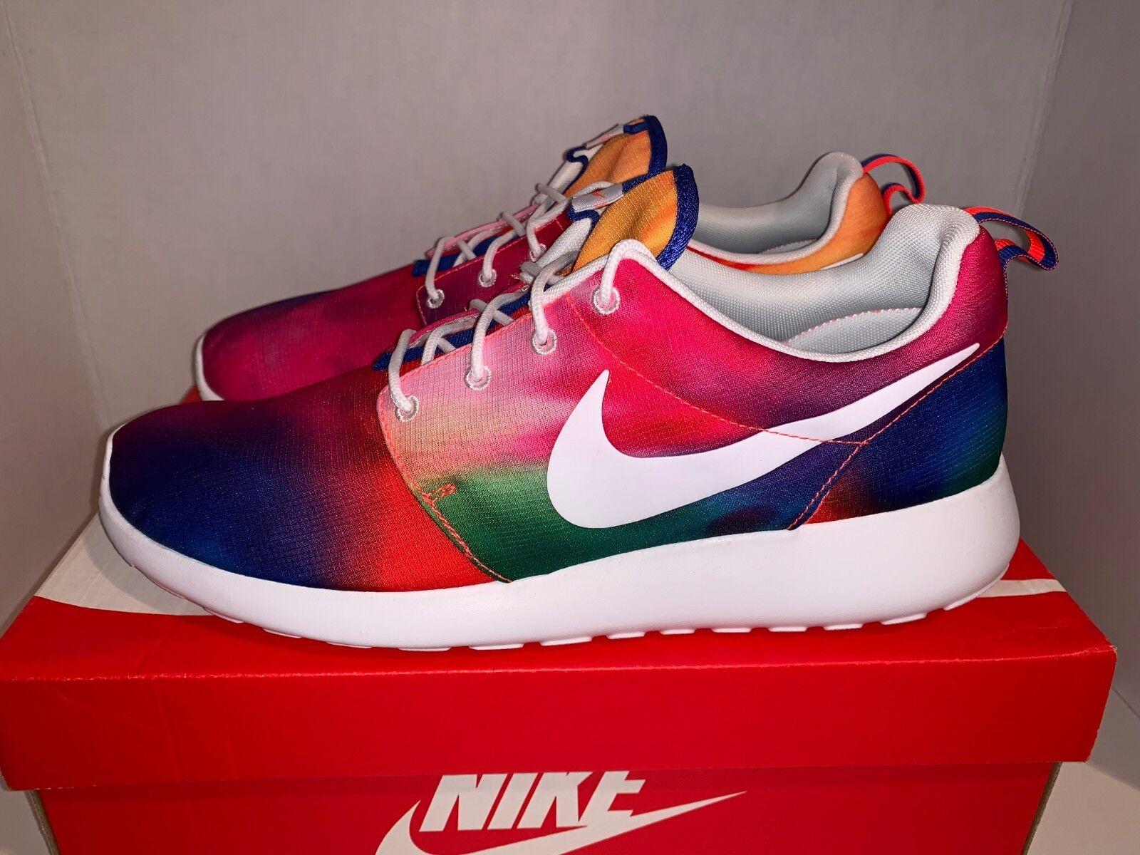Nike Roshe Run Print Tie Dye QS Size 9 11.5