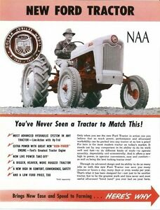 ford tractor naa sales brochure dealer