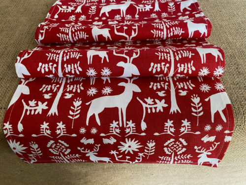 Winter Table Runner Holiday Decor Christmas Decoration Red Dining Table Linens