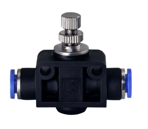 """Air Flow Speed Control Valve Tube OD 5//16/"""" Pneumatic Push In Fitting One Piece"""