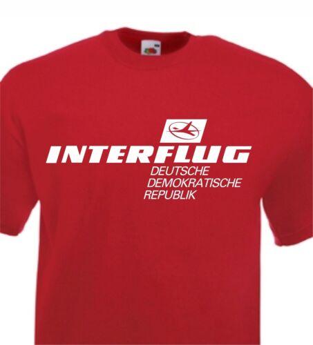 INTERFLUG T Shirt Retro DDR German Airlines S-XXL