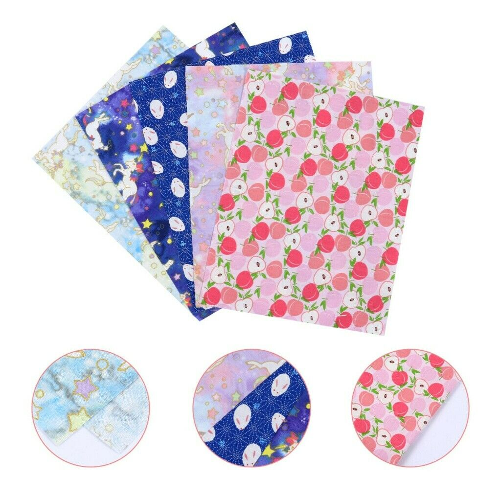 10 Sheets Delicate Stylish Quilting Supplies Bronzing Patch Cloth