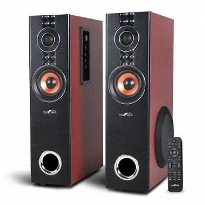 beFree Sound*BLUETOOTH Wood TOWER SPEAKERS*with USB/SD/FM,Optical Input & REMOTE