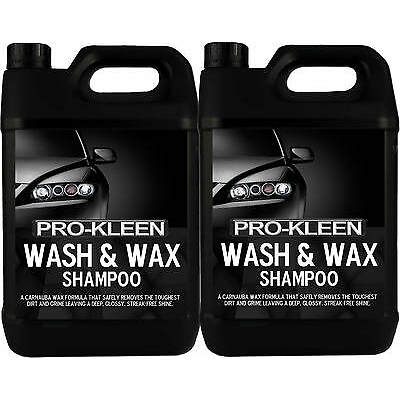 WASH AND WAX PROFESSIONAL CAR CLEANING SHAMPOO CARNAUBA WAX POLISH SHINE CLEANER