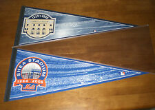 NEW YORK METS SHEA STADIUM & NEW YORK YANKEES STADIUM PENNANTS - NEW
