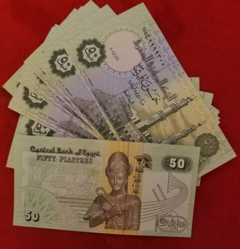 20 PAPER MONEY  UNC FROM Egypt 50 Piastres EACH ISSUED 2008
