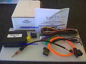 NAV-TV NTV-KIT210 MOST-HUR PORSCHE 997 BOSE Stereo Replacet ...