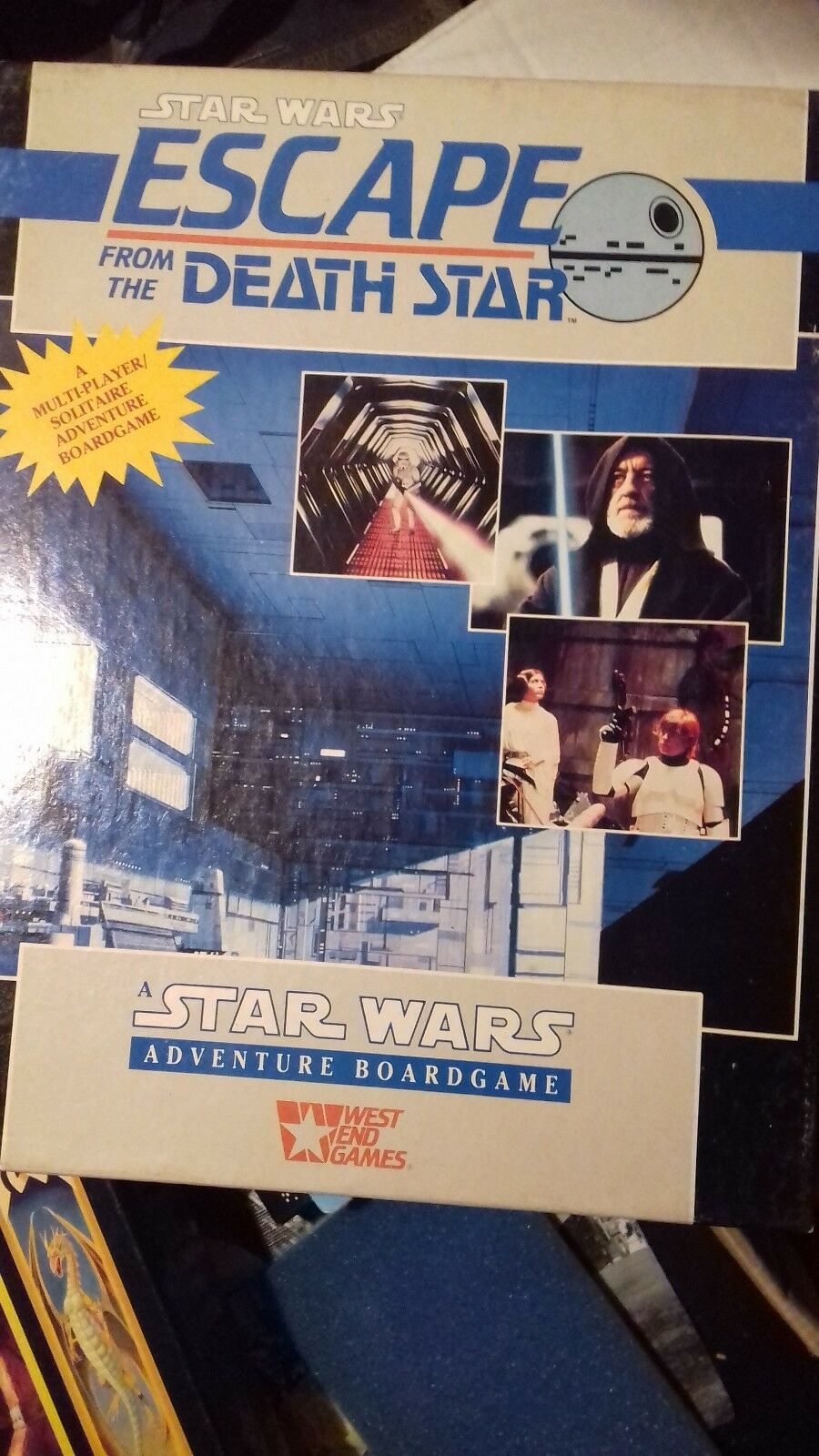 STAR WARS  ESCAPE FROM THE DEATH STAR BOARD GAME west end VINTAGE 96h