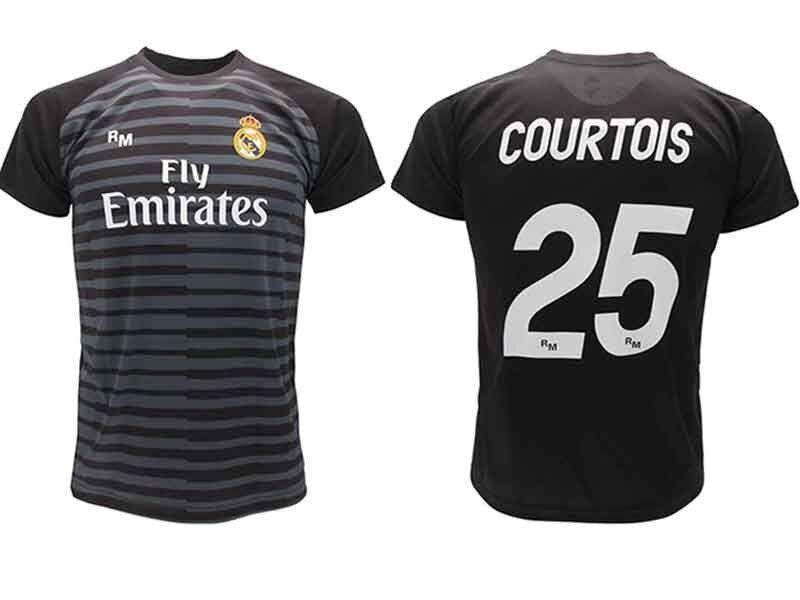 Trikot Courtois Real Madrid offizielle 18 2019 Torhüter Erwachsene Kind Thibaut