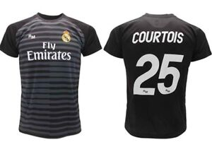 Maillot-Courtois-Real-Madrid-Officiel-2018-2019-Gardien-de-But-Adulte-Enfant