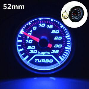 52mm-Turbo-Boost-Pressione-Calibro-Misuratore-PUNTATORE-quadranti-Affumicato-LED-30Psi-POB