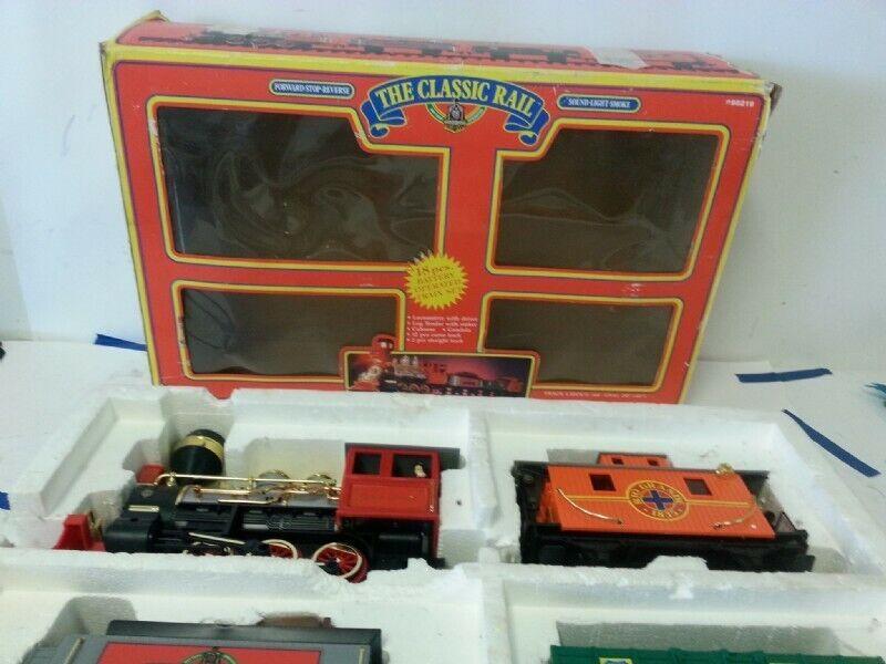 Orvis gree 'The classeic Rail' G SCALE Train Set luciSmokesuono