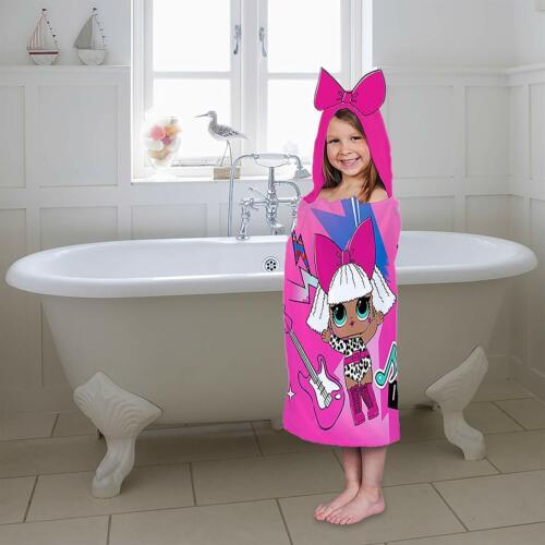 Kids Bath Towel LOL Surprise Diva And Rocket Pink For Girls Soft Cotton