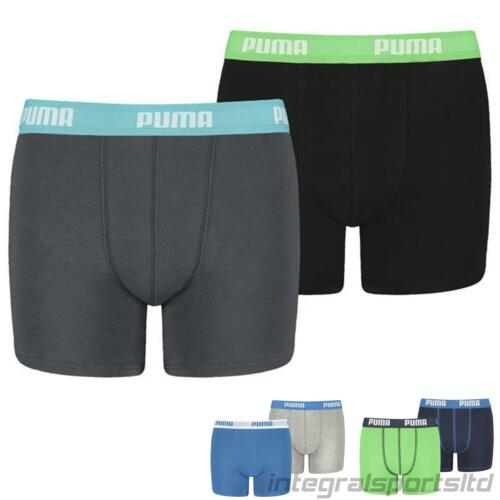 Puma Boys Boxers Soft Feel Cotton Underwear Sports Athletic Pants Pack of 2