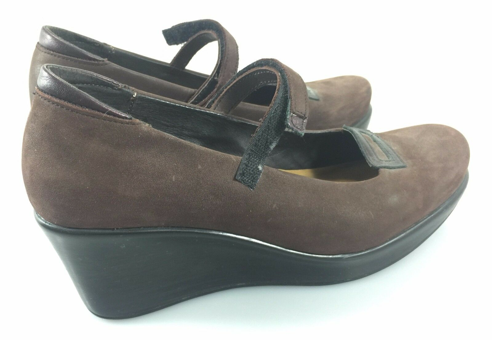 Naot damen 9US 40EU braun Suede Mary Janes 2.75  Wedge schuhe Made in Israel