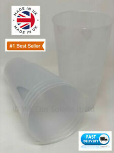 2-Pint-To-Brim-40oz-Plastic-Glass-CE-Marked-Two-Pinter-UK-Made-75-Glasses