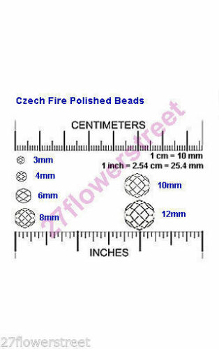 Czech Glass Fire Polished Round Faceted Beads in Crystal Pink Shimmer AB coated
