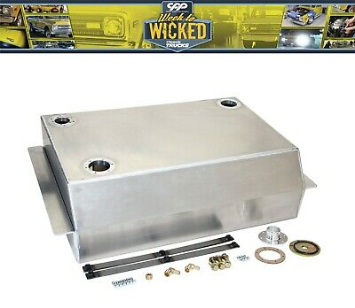 90 ohm Polished Stainless Chevy C10 Truck Bed Fill Gas Tank Install Kit