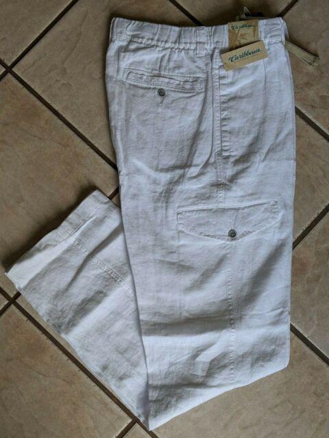 36 X 30 NWT Brownstone Caribbean Men/'s Linen Drawstring Cargo Pants