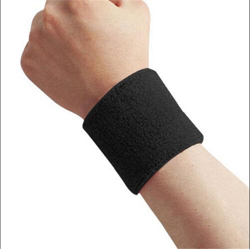 Sports Yoga Running Basketball Cotton Wristband Wrist Band Sweat Band Sweatband