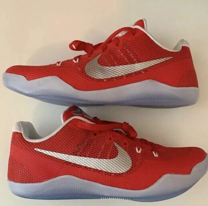 New Nike Kobe XI 11 TB 856485 663 University Red Silver size 14 Basketball shoes