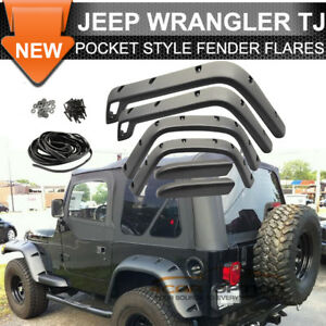 Jeep Tj Wrangler Pocket Style Fender Flares Textured Finish 1997 2006 By