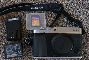 Fujifilm X-E3 24 MP Digital Camera - Silver (Body Only) with accessories