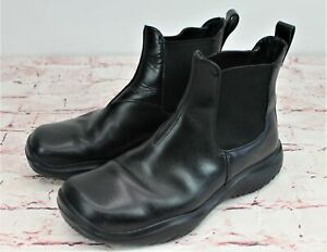 856a82501b3 Men's Authentic Prada Chelsea Boots Black Leather Size 8.5 Slip On ...