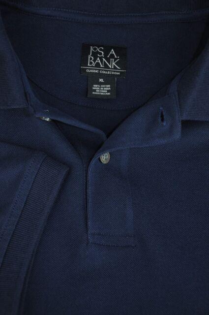 Jos a Bank da Uomo Navy a Rete Cotone Della Camicia di Polo XL