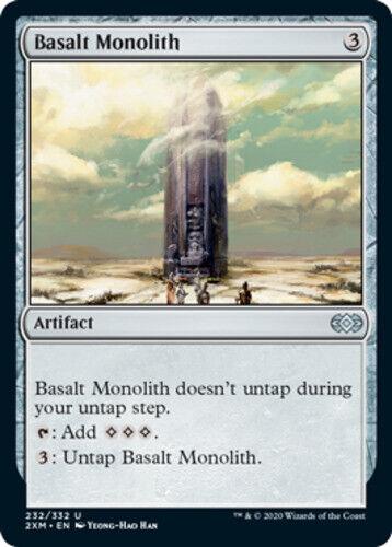 English Mint//Near-Mint 1 x MTG Basalt Monolith Foil Double Masters